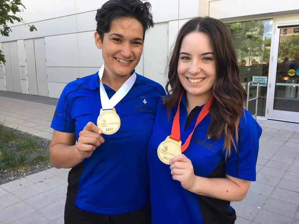 Andréanne Meilleure - Médaille d'Or  Isabelle Therry - Médaille de Bronze lors de Skills Canada à Winnipeg